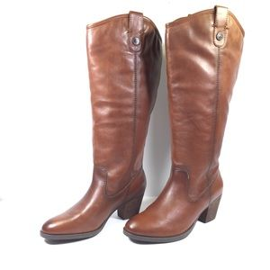 Franco Fortini Taylor Cognac Knee High Riding Boot